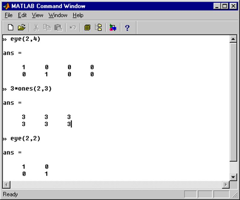 Introduction to matlab for Table 2 matrix matlab
